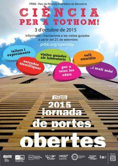 adn-dna: 469 - Portes obertes al PRBB de Barcelona, dissabte 3 d'octubre de 2015