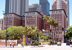 Biltmore Hotel, L.A., California. Fans of the TV show Leverage will recognize this as the buildings that served as the team's headquarters in Season 1. Located on S. Olive St. at W. 5th St