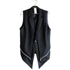 モード系ファッションの通販サイトalbino(アルビノ)です。こちらではZIP切り替えフェイクレイヤードロングベストに関して紹介しております。他にもメンズ、レディース共にお使い頂けるモード系ファッションアイテムをご用意しております。