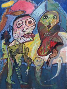"LUCEBERT ""de spokendokter"" (the ghosties doctor"" (1990) oils om canvas, 120x90 cm"