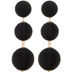 CARA Multi Sphere Drop Earrings (745 RUB) ❤ liked on Polyvore featuring jewelry, earrings, accessories, black, cara jewelry, graduation gift jewelry, wrap jewelry, drop earrings and post earrings