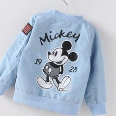 Baby Clothes Cartoon Mickey Pattern Girls Boys Jackets Coats Toddler Kids Jacket Outwear Baseball Windproof Children Clothes New Baby Outfits, Kids Outfits, Baby Bikini, Winter Baby Clothes, Mickey Mouse, Kids Tops, Jackets, Children Clothes, Children Style