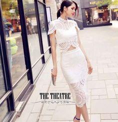 """✨New!!! Korea lace set   เซต เสื้อกระโปรง ผ้าลูกไม้ฝรั่งเศสฉลุอย่างดี ผ้าอย่างดี ทรงสวยมากๆ หรู ไฮโซ   Color : สีขาว  ขนาด :      S  อก 33"""" เอว 25""""    M อก 35"""" เอว 27""""  ยืดได้ ซับในอย่างดี งานเกรดแพง    สนใจ ติดต่อ :   Facebook   : www.facebook.com/adsdress  Line            : @adsdress Instagram   : @adsdress Tel.              : 0986967889 E-mail         : adsdress@hotmail.com"""