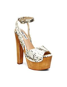 Shop Women's Steve Madden White Tan size 8 Heels at a discounted price at Poshmark. Worn only a few times. Dress Sandals, Dress Shoes, Steve Madden Heels, Madden Shoes, Womens Clearance, Shoe Sale, My Style, Things To Sell, Addiction