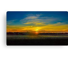 Sunset on the Calder Canvas Print