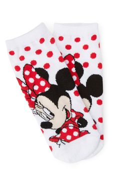 Polka Dot Minnie Ankle Socks   FOREVER21 For the disney lover on #ValentinesDay #F21Crush #MinnieMouse