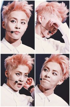 xiumin ~ I'm not sure I like this hairstyle on him but maybe it'll grow on me