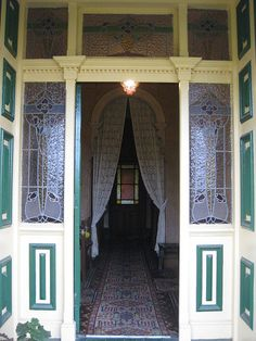 The Open Front Door of Hymettus Cottage - Ballarat