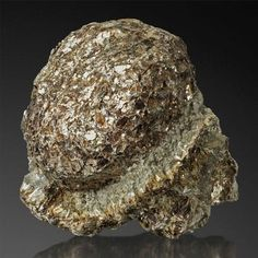 """Rare Anthophyllite and Phlogopite - Hermanov, Moravia, Czech Republic This is a so called """"Hermanov-ball"""", a kind of specimen that was only found on one place in the world. The center is a ball of dark phlogopite surrounded by lighter anthophyllite. The area is now protected, digging is not allowed anymore."""