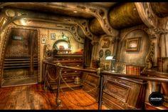 Photo Nautilus bedroom HDR par Quentin Denoël on Jules Verne, Steampunk Design, Steampunk Fashion, Nautilus Submarine, Parc Disneyland, Medieval, Walt Disney Imagineering, Create Your Own Adventure, Boats