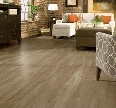 Armstrong: This laminate flooring resembles the genuine article, with distinctive grains and truly authentic textures.