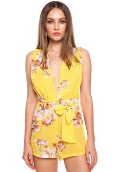 Macacão Slim - Cor Amarelo - R$ 79,90+ Frete Grátis para todo o Brasil - Compre roupas baratas online |Mayortstore|Loja online de roupas baratas