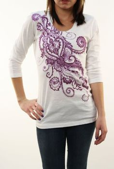 Lucky Brand Jeans Womens Wild Flower Graphic « Impulse Clothes