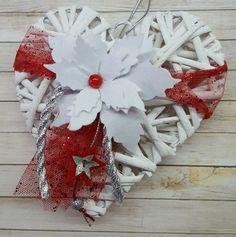 Cuore natalizio binco rosso e argento, by Marzia Creazioni, 8,00 € su misshobby.com