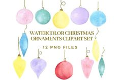 Etsy Business, Business Tips, Etsy Seo, Watercolor Christmas, Christmas Clipart, Sell On Etsy, Holiday Ornaments, Clip Art, Hand Painted