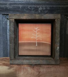 Primitive Home Decor, Hand Engraved Wood, Rustic Wall Art, Fall, Autumn, Tree…