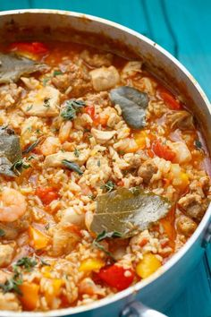An easy jambalaya recipe that is one pot (like most traditional recipes) and takes little time on a busy work week! #jambalaya