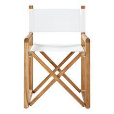Ordinaire Directoru0027s Chair U2013 White | Serena U0026 Lily