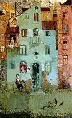 petitpoulailler:    wasbella102: 2009 Otar Imerlishvili (Georgian, 1970) ~Serenade