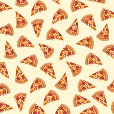 Pizza pattern Art Print by Claire Lordon