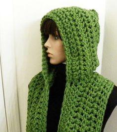 Resultado de imagen de Free Crochet Hooded Scarf Pattern