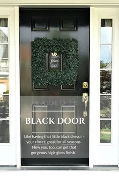Black painted front door tutorial using Rustoleum oil based paint. Before and after pictures. Lessons learned from using an oil based paint on a hot day.