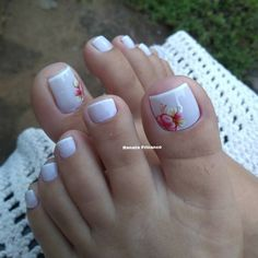 Pedicure Nail Art, Pedicure Designs, Toe Nail Designs, Pretty Toe Nails, Cute Toe Nails, Toe Nail Color, Toe Nail Art, New Nail Art Design, Glamour Nails