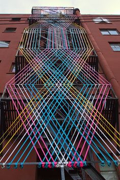 Lee Building ribbons , Vancouver BC