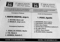 Boleta Electoral elección 18 de noviembre.