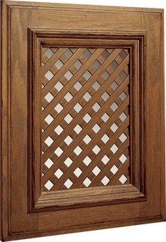 Diagonal Lattice Insert   Wood-Mode   Fine Custom Cabinetry
