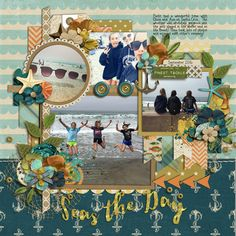 Credits: Cindy's Templates - Sequentials 1 to 4: Set 9 by Cindy Schneider  Deep Blue Sea by Studio Flergs Sweetshoppe Designs Layout by Kjersti Sudweeks Digiscrap Scrapbook Layout Layout Ideas