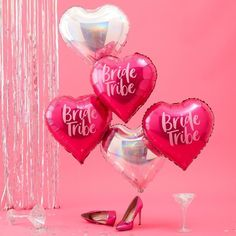 Our hot pink printed & iridescent foil balloons will be a focal point to any hen party. Everyone will know itメs a hen do with our foil balloons that will fill the venue with excitement! Gorgeous balloons that the bride to be will love! Hen Party Balloons, Bride To Be Balloons, Pink Balloons, Heart Balloons, Foil Balloons, Helium Balloons, Bride Balloon, Colourful Balloons, Crates