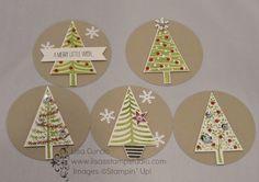 """Christmas Tree tags/2 1/2"""" circle punch"""