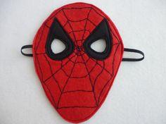 Felt Spider mask for dressing up/costume/fancy dress/superhero mask