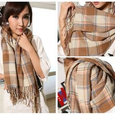 Best fashion just in, Burberry Scarf in... is available now, click the link http://modatendone.co.uk/products/burberry-scarf-in-thick-cashmere-for-women-tassels-camel-blue-red-beige-giant-unisex-check-oversized-long-shawl-200x65cm?utm_campaign=social_autopilot&utm_source=pin&utm_medium=pin don't miss out our amazing collections!