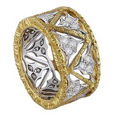 Mario Buccellati Diamond and Gold Ring.  1stdibs.