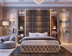 Contemporary Bedroom on Behance Modern Luxury Bedroom, Luxury Bedroom Furniture, Modern Bedroom Design, Contemporary Bedroom, Luxurious Bedrooms, Luxury Sofa, Hotel Bedroom Design, Bedroom False Ceiling Design, Master Bedroom Interior