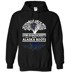 Living in Massachusetts with Alaska Roots, Order HERE ==> https://www.sunfrog.com/States/Living-in-Massachusetts-with-Alaska-Roots-brainkufrv-Black-Hoodie.html?8273, Please tag & share with your friends who would love it , #renegadelife #xmasgifts #jeepsafari