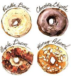 Assorted Illustrated Recipes by Natalya Zahn, via Behance