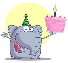 cartoon elephant | cartoon_elephant_with_birthday_cake_0521-1001-2815-2854_SMU.jpg