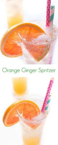 Orange Gigner Spritzer Recipe - A healthy and taster drink. - The Lemon Bowl