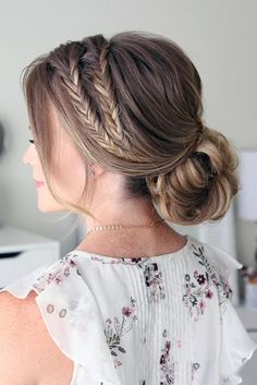 wedding updos with braids low chignon missy cook via instagram