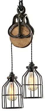 West Ninth Vintage Wood and Iron Barn Pulley Light (Black & Copper Accents) - - Amazon.com Flush Lighting, Barn Lighting, Vintage Lighting, Industrial Pendant Lights, Led Pendant Lights, Pendant Lighting, Vintage Frames, Vintage Wood, Vintage Industrial