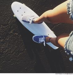Something about vans and a penny board
