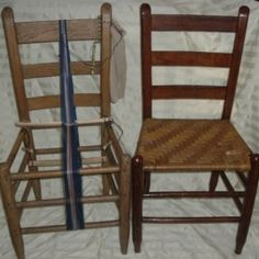 Way cool use of a chair as an inkle loom