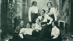 First photo of Alpha chapter from school yearbook, the Normal Light, 1898