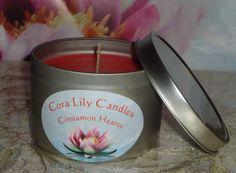 Soy Wax Candle in Tin with Hidden Jewelry by CoraLilyCandles