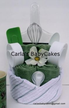 Kitchen Towel Cake by IDD