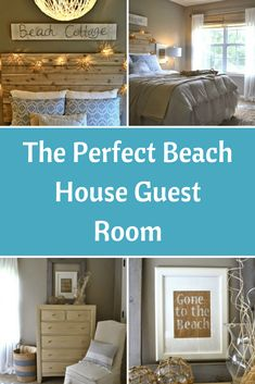 The Perfect Beach House Guest Room Guest Bedrooms, House, Beach House Decor Living Room, Beach Cottage Design, Beach House Interior, House Rooms, Beach House Room, Coastal Bedrooms, Beach Cottage Decor