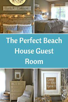 The Perfect Beach House Guest Room Beach Cottage Style, Beach Cottage Decor, Coastal Cottage, Cottage Ideas, Coastal Living, Coastal Style, Guest Bedroom Decor, Guest Bedrooms, Guest Room